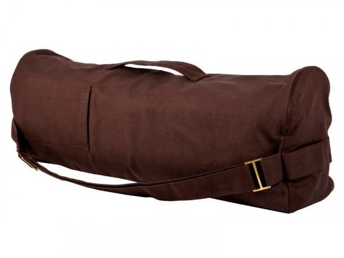 Sac à tapis de yoga Chic et Cool 100% Coton Bio 82cm x 17cm Chocolat