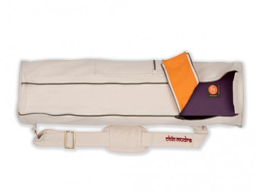 Article de Yoga Sac à tapis de yoga Large-Bag 72cm X 22cm Ecru
