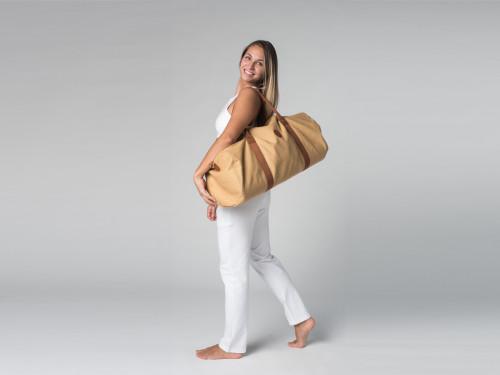 Article de Yoga Sac à tapis de yoga Navy Bag - Coton Sable 70cm x 30 cm