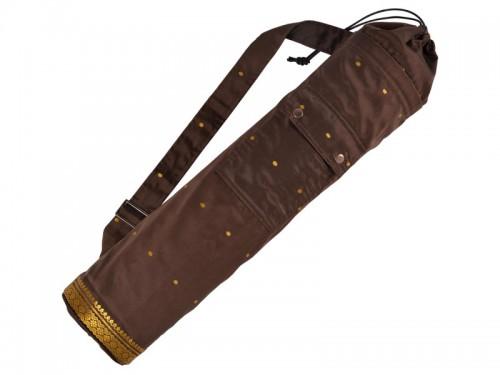 Sac a tapis de yoga Saree 71 cm X 15 cm Chocolat