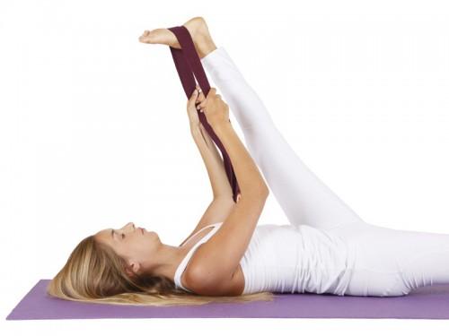 Article de Yoga Sangle de yoga 100% Coton Bio Boucle 1/2 lune Chocolat