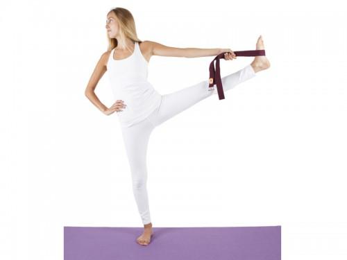 Article de Yoga Sangle de yoga coton Bio boucle rectangulaire Chocolat