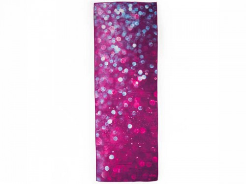 Serviette de Yoga anti-dérapante - 183cmx 61cm Prune