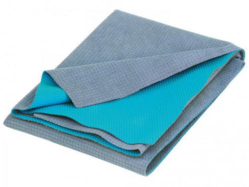Serviette de Yoga anti-dérapante - 183cmx 61cm Gris/Turquoise