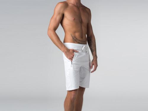 Article de Yoga Short de yoga homme - Coton Bio Blanc