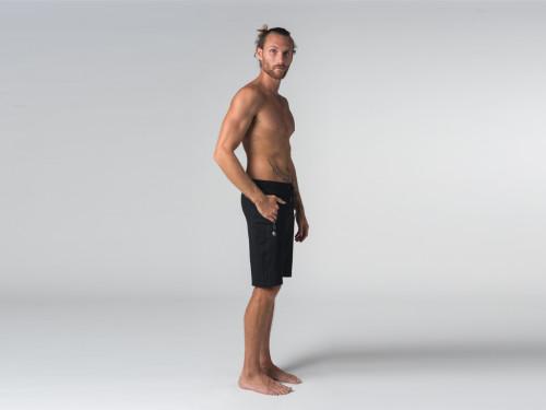 Article de Yoga Short de yoga homme - Coton Bio Noir