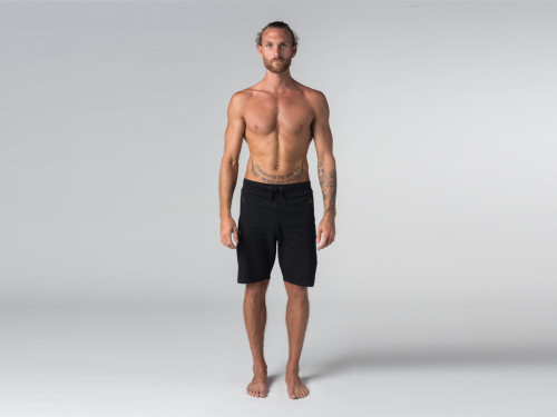 Short de yoga homme - Coton Bio Noir