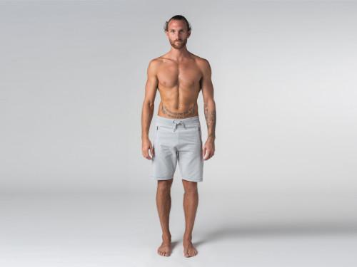 Short de yoga homme - Coton Bio Gris