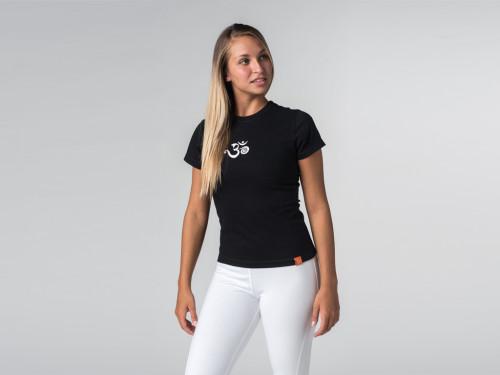 T-shirt manches courtes coton Bio - Ohm Noir