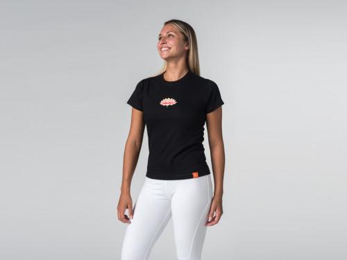 T-shirt manches courtes Lotus - coton Bio Noir