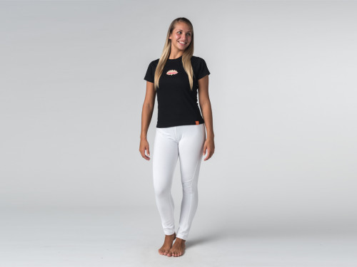 Article de Yoga T-shirt manches courtes Lotus - coton Bio Noir