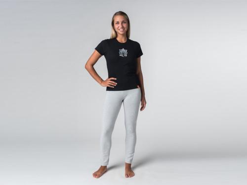 Article de Yoga T-shirt manches courtes Sri Ganesh - coton Bio Noir
