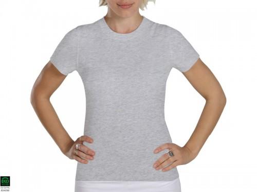 T-shirt manches courtes Tara 100% coton Bio Gris Perlé
