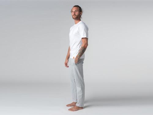 Article de Yoga T-shirt Tapan 100% coton Bio - Manches courtes Blanc