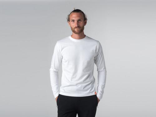 T-shirt Tapan 100% coton Bio - Manches longues Blanc