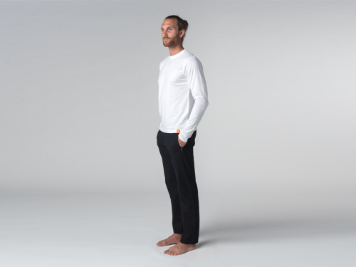 Article de Yoga T-shirt Tapan 100% coton Bio - Manches longues Blanc