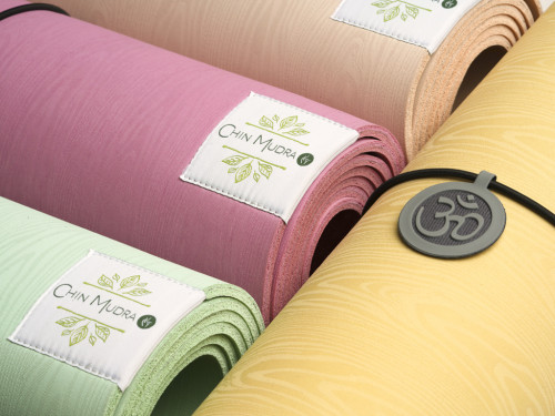 Article de Yoga Tapis de Yoga Green Mat 5mm 183 cm x 61 cm x 5 mm - Rose perlé