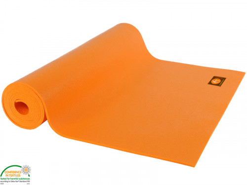 Article de Yoga Tapis de yoga Large-Mat 183cm/220cmx80cmx4.5mm Orange Safran