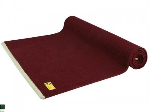 Tapis de yoga Taj 100% coton Bio - 2 m x 66 cm x 5mm Bordeaux