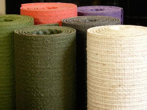 Article de Yoga Tapis Eco-Latex 100% pure Latex et Chanvre 5 couleurs