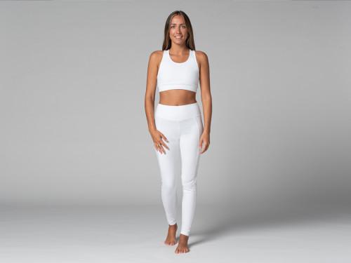 Yoga Legging Pocket - Bio Blanc