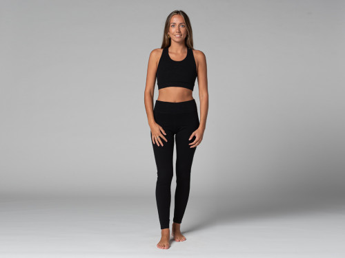 Yoga Legging Pocket - Bio Noir