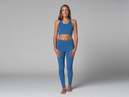 Yoga Legging Pocket - Bio Bleu