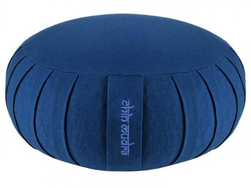 Zafu Confort 100% coton Bio - Kapok Bleu