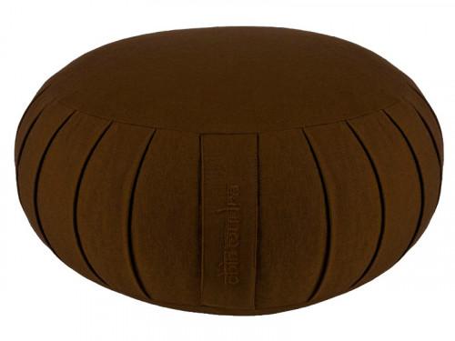 Zafu Standard 100% coton Bio Kapok Chocolat