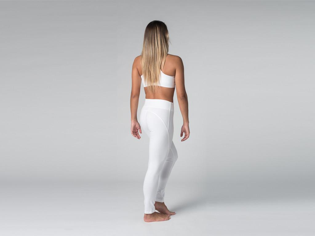 Yoga Legging 95% coton Bio et 5% Lycra Blanc