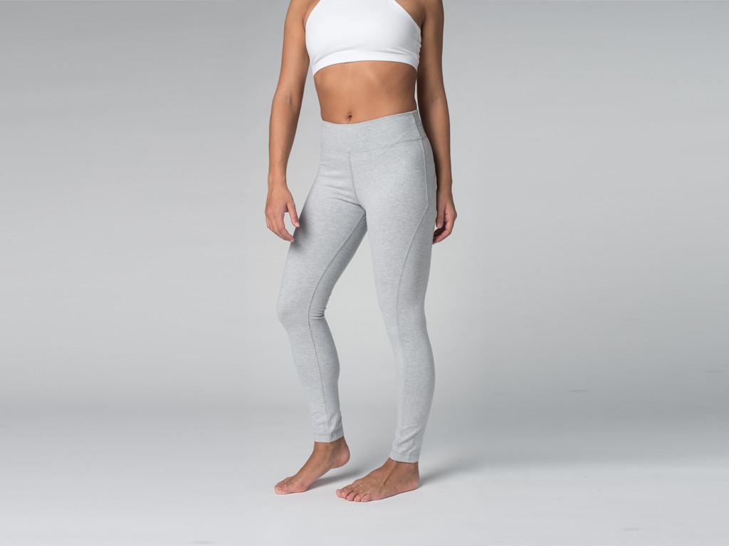 Yoga Legging 95% coton Bio et 5% Lycra Gris