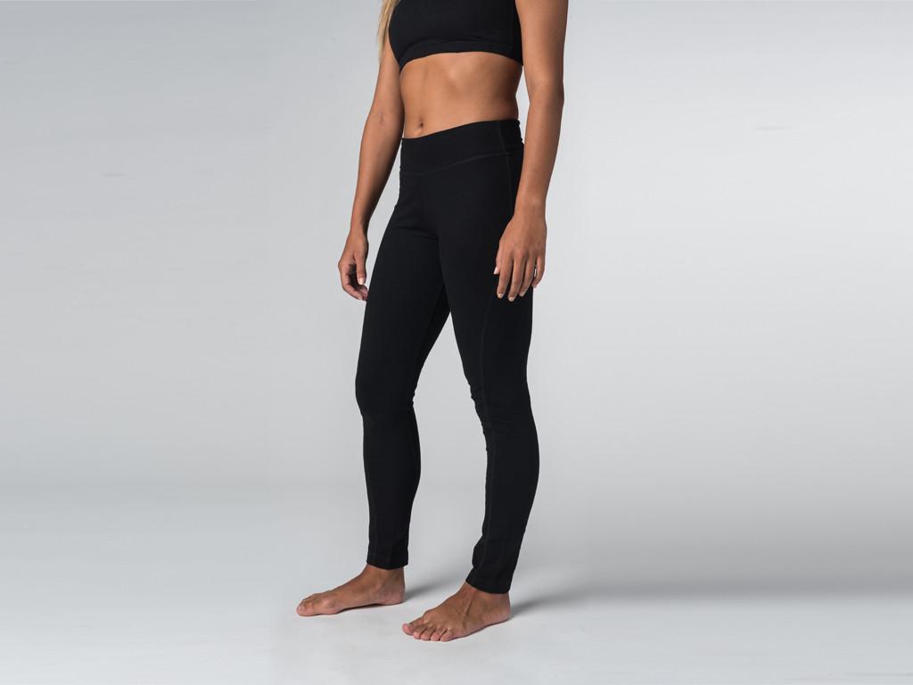 Yoga Legging 95% coton Bio et 5% Lycra Noir