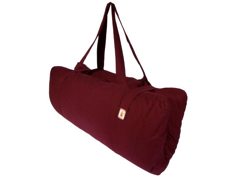 Zabuton transportable 100% coton Bio Bordeaux uni
