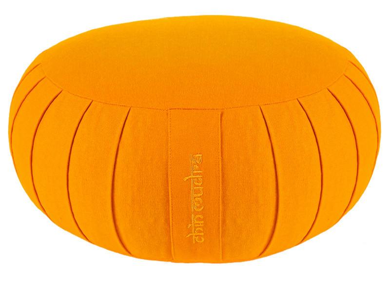 Zafu Confort 100% coton Bio - Kapok Orange Safran