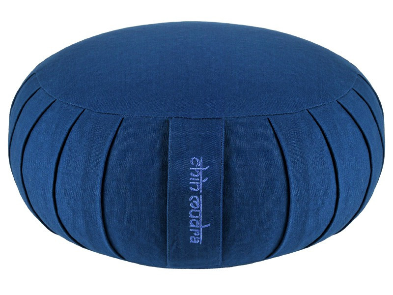 Zafu Standard 100% coton Bio Kapok Bleu